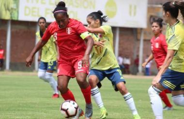 Colombia venció 2-1 a Perú en el complejo deportivo de la FPF.