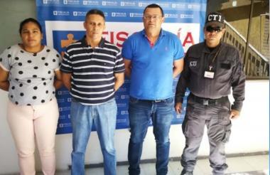 Los tres capturados por el CTI.