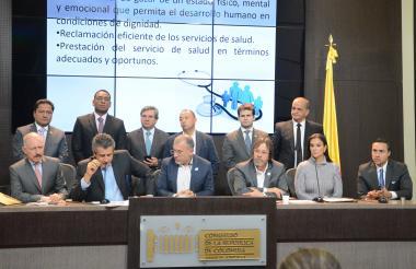 Congresistas de la alianza de Cambio Radical, Partido de la U y Partido Liberal.
