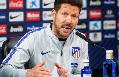 Diego Simeone, entrenador del Atlético de Madrid en conferencia de prensa previo al juego ante el Barcelona.