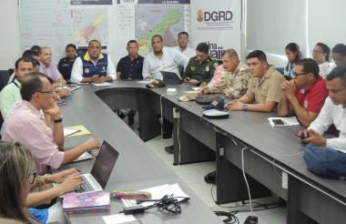 Aspecto del Consejo departamental de Gestión del Riesgo y Desastres.