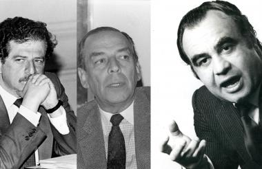 Luis Carlos Galán Sarmiento, Álvaro Gómez Hurtado y Jaime Pardo Leal.