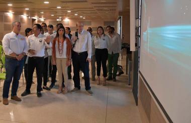 El presidente Iván Duque durante su visita a la Universidad del Magdalena.