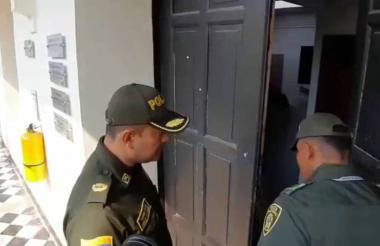 Policía hizo presencia para evitar ánimos caldeados.