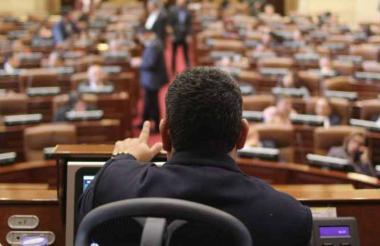 Plenaria de la Cámara durante uno de los debates.