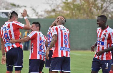 Los jugadores del 'equipo B' celebrando en Montería.