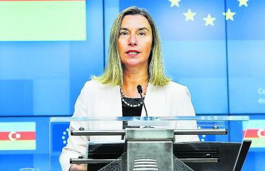 Federica Mogherini, jefa de diplomacia europea.
