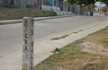 Lugar donde fue asesinado Cantillo Sandoval.
