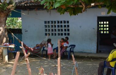 Familias desplazadas en Puerto Libertador.