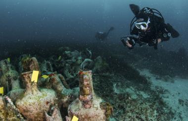 Las aguas griegas albergan decenas de antiguos naufragios; se sabe que solo unos 60 se encuentran cerca del islote egeo de Fourni, según el ministerio de Cultura