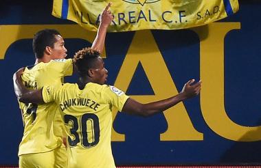Bacca celebra un gol.