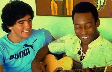 Imagen que publicó Maradona en su cuenta de Instagram en honor a Pelé.
