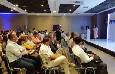 Rosmery Quintero, durante su presentación.
