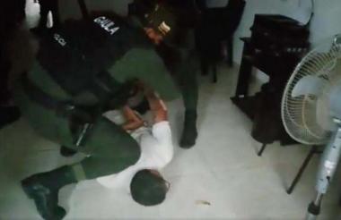 Elmer Rudas Menco en el momento de su captura.