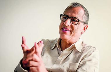 Diego Hernández, director de Colciencias, durante su visita a Barranquilla esta semana.