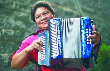 Maribel Cortina, acordeonera víctima de la delincuencia en Valledupar.