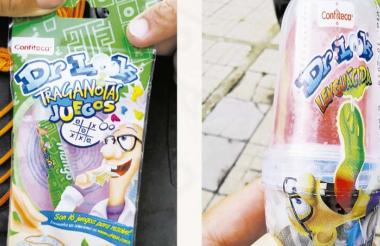 Estos habrían sido los empaques de dulces decomisados por las autoridades.