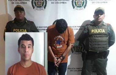 Armando Florez Alvarino fue mostrado a la prensa. Según el boletín de la Policía tiene el alias de Pirulito.