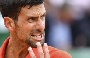 El serbio Novak Djokovic celebrando a rabiar.