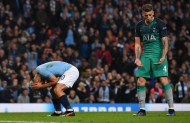 El español Fernando Llorente celebra emocionado tras anotar el tanto de la clasificación del Tottenham.