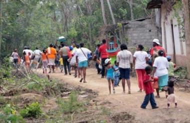 Son ocho las poblaciones afectadas por la violencia.