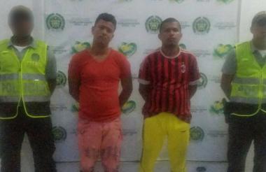 Ronald Manuel Flórez Fontalvo, supuesto ayudante;  y Javier Marín Yepes, alias el Chamán.