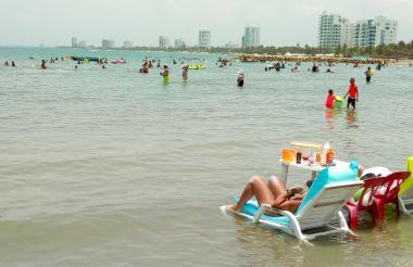 Panorama de ocupación de las playas de Coveñas.