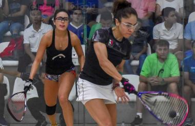 Acción de la final femenina en el Parque de Raquetas.