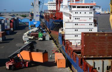 La sociedad Puerto de Barranquilla.