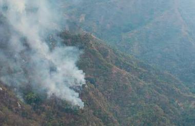 Incendios en la Sierra Nevada de Santa Marta.