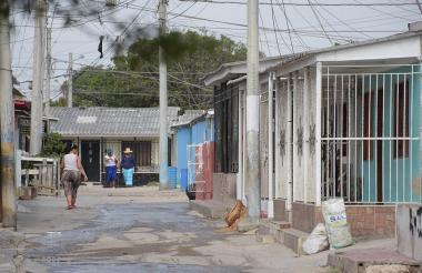 En esta calle del barrio La Chinita ocurrió la balacera que se presentó el sábado.