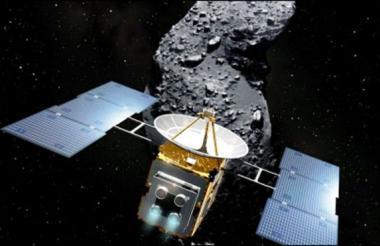 Imagen de la sonda japonesa Hayabusa2.