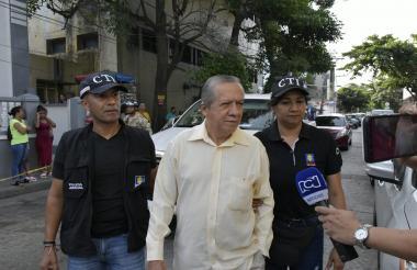 Mariano Romero Ochoa, el día de su captura.