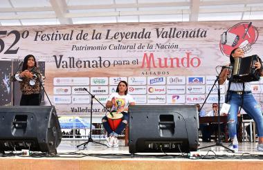 Yeimi Arrieta Ramos en su paso por la tarima.