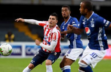 El santandereano Michael Rangel anotó el único gol de Junior en los últimos seis partidos.