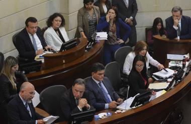Durante la sesión de ayer en la que se pretendía votar las objeciones a la JEP.