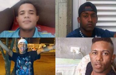 Jainer Berrío (arriba izq.), Luis Díaz, Luis Mercado Gamarra (abajo izq) y Luis Alfredo Therán.
