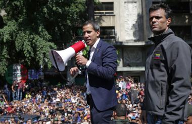 Juan Guaidó y Leopoldo Lopéz.