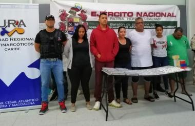 Los capturados con droga en La Ceiba.