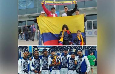 Equipo colombiano Tokio durante el mundial.