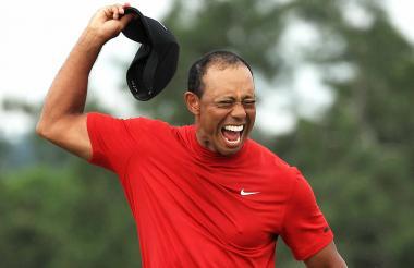 Tiger Woods luego de ganar el Masters de Augusta.