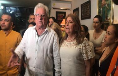 El alcalde de Soledad, Joao Herrera, durante la rueda de prensa que convocó este sábado.
