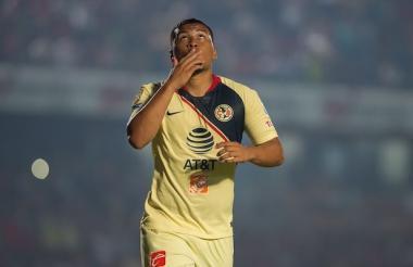 El delantero colombiano marcó en la victoria de su equipo.-