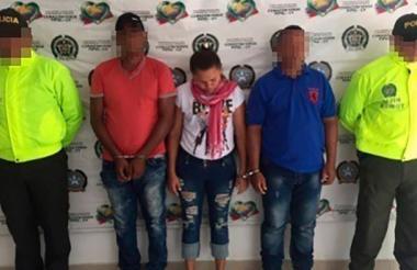 Eloína Rosa Muñoz Suárez,  alias Nikita o la Mona, fue mostrada por la Policía de Montería.
