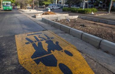 Las obras del bulevar de la carrera 54 avanzan en un 60% según el Distrito.