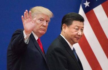 Presidente Donal Trump y su homólogo Xi Jinping.