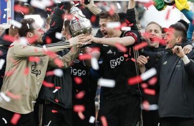 Ajax campeón de la Copa de Holanda.
