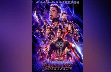 Poster oficial de la película Avengers: Endgame, estrenada a final de abril.