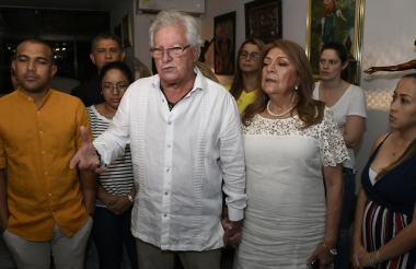 El alcalde Joao Herrera luego de la rueda de prensa.