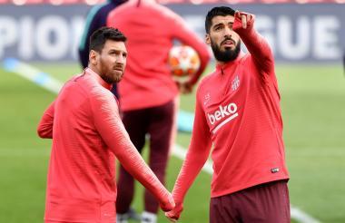Suárez y Messi, las amenazas para el Liverpool.